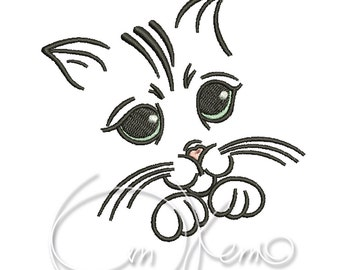 MACHINE EMBROIDERY DESIGN - Cat, Kitty embroidery, Kitten
