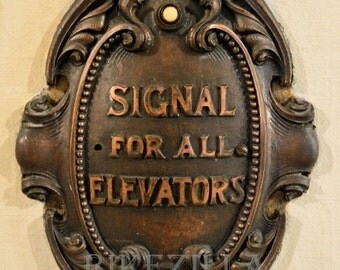 Black and White OR color: Chicago Architecture #4, Elevator Call Plate #20a