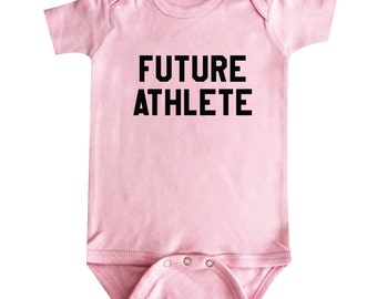 Future Athlete Baby Clothes, Bodysuit, Baby Shower Gift, Funny Baby Clothes, Baby Boy, Baby Girl, Baby Athlete #32