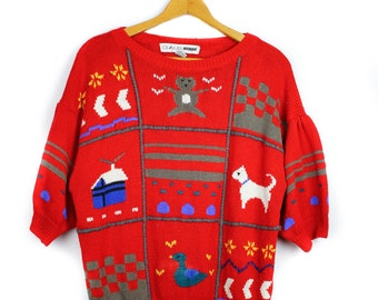 80's Chaus Women's Holiday / Christmas Sweater