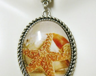 Starfish pendant with chain - SAP09-009