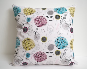 Modern Floral Pillow Cover, Floral Throw Pillow Cover, Pastel Pillow Cover Pink Room Decor For Teen Girl Bedding Decorative Pillow for Couch