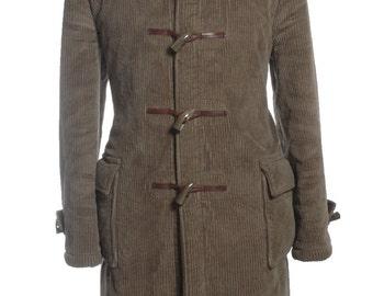 Vintage 1960's Hepworths Brown Corduroy Duffle Coat L - www.brickvintage.com