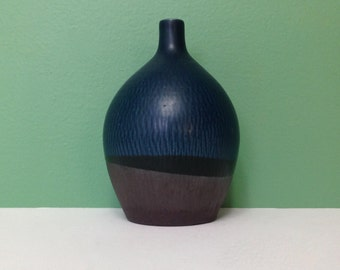 Vintage Weed Pot Otagiri OMC Blue Teardrop Shape Ceramic Bud Vase Made in Japan