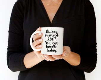 Britney Mug, Britney Spears Mug, Funny Coffee Mug, Custom Gift, Personalized Coffee Cup