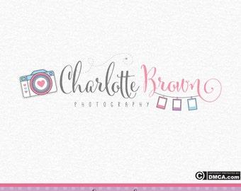 Premade Camera Logo, Photography Logo, Photographer Logo, Photograph Watermark, Baby Photography, Wedding Photography Logo, Whimsical Logo