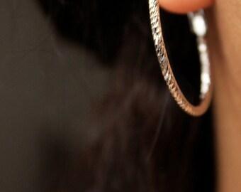 18k White Gold Plated Hoop Earrings/ Hoop Earrings/Gift For Her/Gold Plated Hoop Earrings