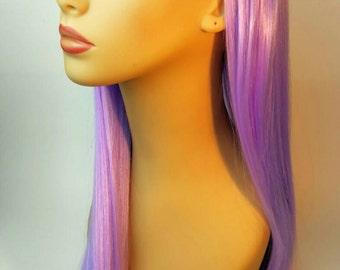 Long Purple Wig, Purple Wig with Bangs., Bangs, Light Purple, Pastel Purple, Wig