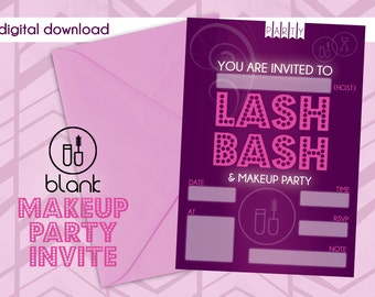 Makeup Party Invitation - Blank
