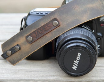 Camera Strap,Leather Camera Strap,Personalized Camera Strap,Gift for Photograph Lovers,Camel Camera Strap