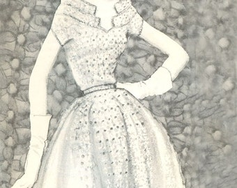 CROCHET PATTERN Schiaparelli's Silk Organdy Dress Instant Download PDF