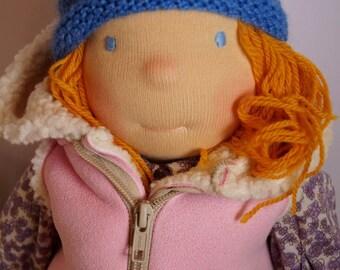 Kaya waldorf doll 18.11 inch/46 cm. Steiner doll. OOAK doll. Cloth doll.