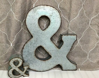 Metal Letters/Ampersand/Large Ampersand/Galvanized Letter/Wedding Decor/Initial/ &/Wall Letter/Letters/And Symbol/Wedding