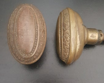 Vintage Oval Beaded Doorknobs 530636