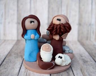 Holy Family Nativity scene, Nativity Scene, manger scene Jesus, Mary, Joseph, nativity scene, manger scene, creche, holy family, baby Jesus