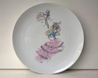 Alka Kunst Bavaria, Wall Plate, Spanish Series, West German Pottery, 1950s