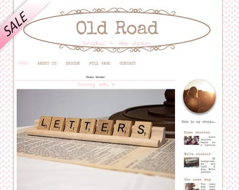 Premade wordpress template, brown and pink wordpress template, Old road