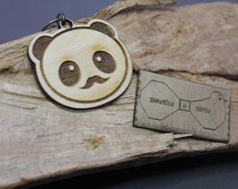 Gentle Panda | Key dangler | Necklace | Lasercut