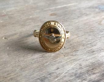 10K vintage Unites States Armed Forces ring