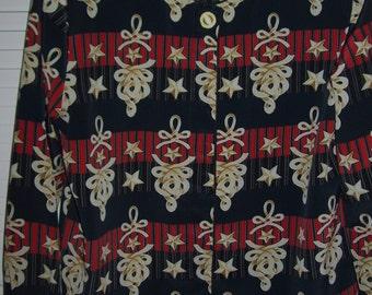 Vintage Bora Bora  French Polynesian Jacket, Vivid Fun Exciting Pattern.  Size Medium
