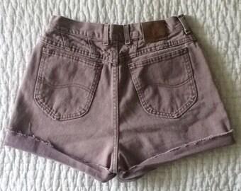Small High Waisted Denim Festival Cut Off Shorts