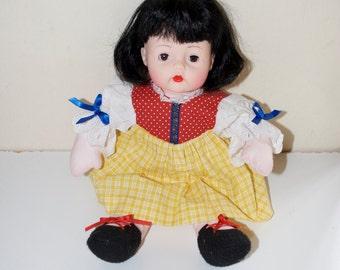 "Snow White Huggums Madame Alexander Baby Doll 12"""