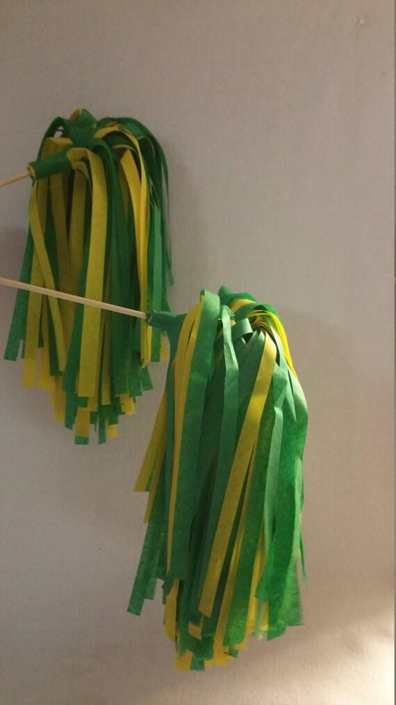 Baylor tiene 10 pompones de porristas agitadores amarillo - Ideas para porras ...
