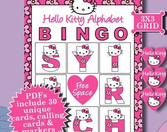 Hello Kitty 3x3 Bingo printable PDFs contain everything you need to play Bingo.