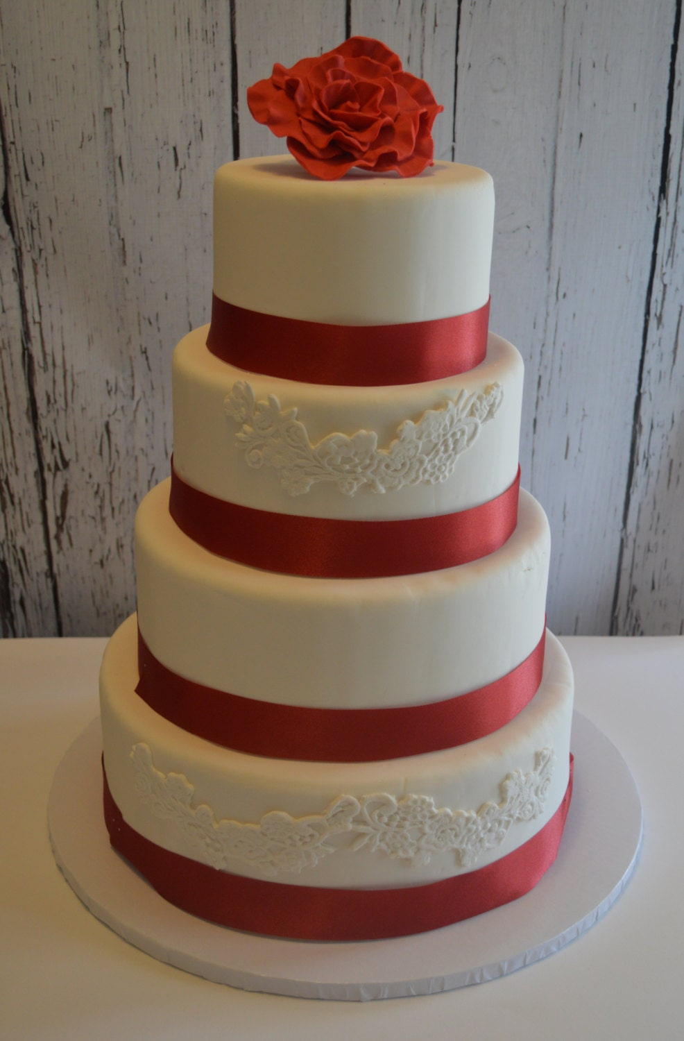 fake wedding cakes northern ireland four tier fondant faux wedding cake wedding cake 14138