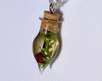 Faerie Cherry Necklace on Silver Chain