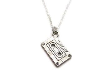 Cassette Tape  Necklace Mixed Tape  Necklace Music Necklace Cassette Necklace Mixed Tape Jewelry Music Jewelry  Choose Your Chain
