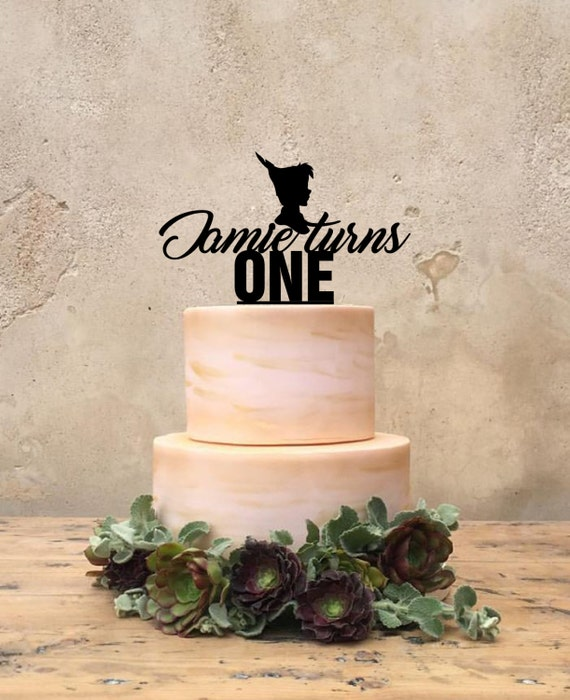 Peter pan custom one cake topper
