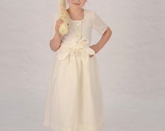 BIO-communion Dirndl JOHANNA made of fine linen linen Dirndl communion dress children Dirndl