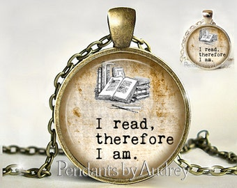 Book Necklace, Book Pendant,Reader Gifts,Quote necklace,pendant,jewelry,Inspirational,Her,Read,Gift for Reader,Gift,Print