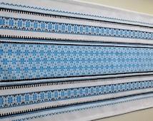 Ukrainian kitchen towel, ethnic table runner, cotton table runner, blue table runner, ethnic fabric, kitchen decor, kitchen, Ukraine