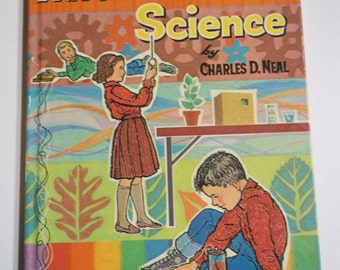 Adventures in Science by Charles D. Neal Whitman Learn About Book #17 1963 Vintage Childrens Board Book