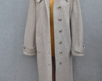 Vintage Coat with Large Peter Pan Collar