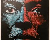 Wall Art Painting Miles Davis by Matt Pecson Original Painting Canvas Painting Pop Art Painting on Canvas Jazz Painting Urban Art