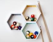 Set of 3 Medium Honeycomb // Hexagon Shelves // Custom to your room // Personalized
