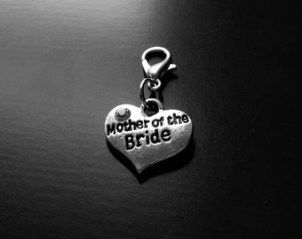 Mother of the Bride Heart Dangle Charm for Floating Lockets-Gift Ideas for Women