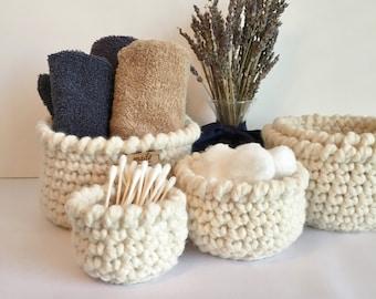 Nesting Baskets - Nesting Bowls - Decorative Baskets - Storage Baskets - Stacking Bowls - Home Decor - Housewarming