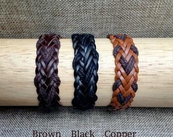 Mens Leather Bracelet, Men's Gift, Man Bracelet, Buckle Adjustable Mens Braclets, Boyfriend Gift Braclet JLA-41