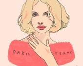 Paris, Texas / Wim Wenders - mini glossy print (5x7'')