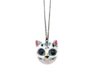Porcelain Cat Necklace