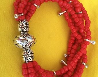 """Bracelets handmade """"Poppy Flower"""""""