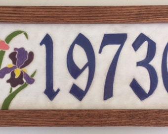 Iris address tile