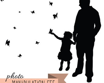 Custom Silhouette Portrait Photo Manipulation Fee