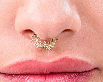 Septum, Silver Septum, Gold Septum Ring, Septum Jewelry, Silver Septum Piercing, 14K Gold  Piercing Jewelry, 16-20 Gauge, Nose Piercing