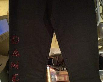 Dance Pants personalised with name/team/school or word DANCE