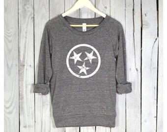 Stars Shirt. Tennessee Shirt. Stars Pullover. Raglan Sleeves. Alternative Apparel.